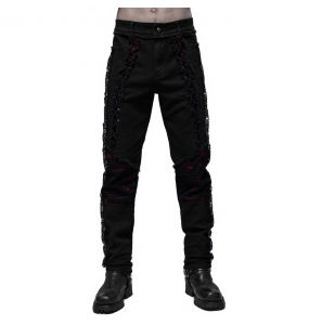 Black and Red Wolfram' Pants
