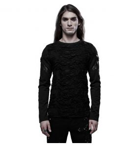 Black 'Astaroth' Long Sleeves Sweater