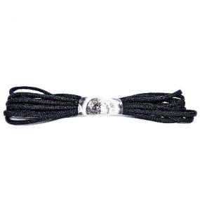 """Black New Rock Laces 94½"""" (240 cm)"""