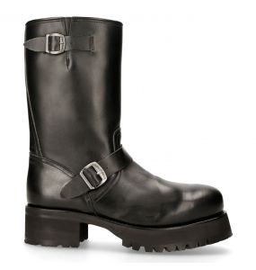 Black Leather New Rock West Boots