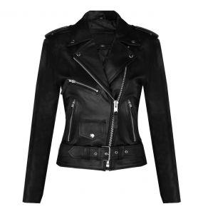 Black Leather 'Buffalo Brando' Females Jacket