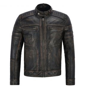 Male's Aged Leather Jacket
