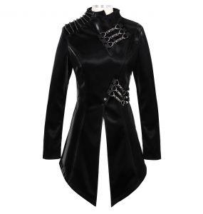 Black Faux Leather 'Thorne' Jacket