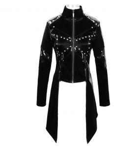 Black Faux Leather 'Draven' Jacket