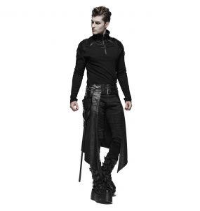 Black 'Assassin's Creed' Male's Mid-Skirt Kilt