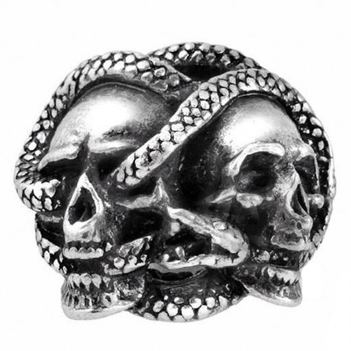 121 Details about  //'Rock and Roll/' Vintage Skull Ring