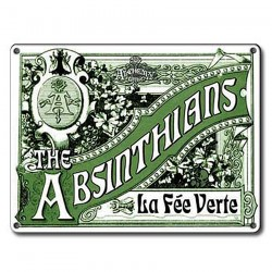 Enamelled Metal Plate 'The Absinthians'