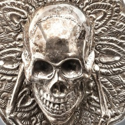 Door Handle with Skull
