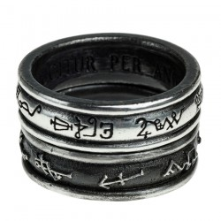 'Demon Black & Angel White' Ring