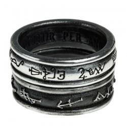 'Demon Black & Angel White' Ring