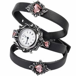 'Heartfelt' Swarovski and Leather Wristwatch