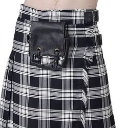 Sac de Kilt 'White and Black Plaid'