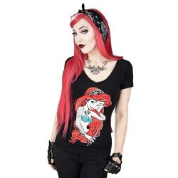Black 'Rebel Ariel' T-Shirt