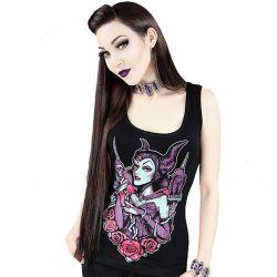 T-Shirt 'Maleficent' Noir