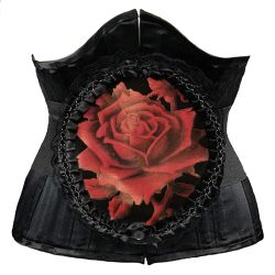 Waist Elastic Belt 'Red Rose' in Lace Frame