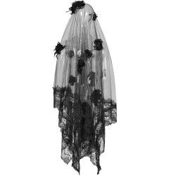 Black 'Gardenia' Veil