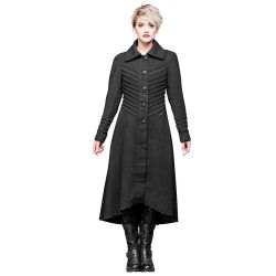 Black 'Bellona' Long Coat