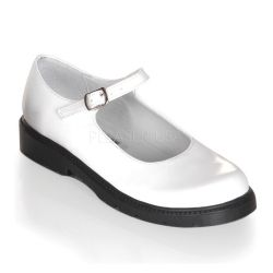 White Patent Children Shoes