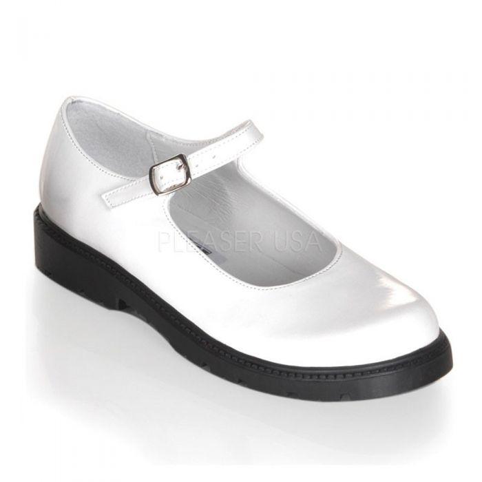 White Patent Children Shoes