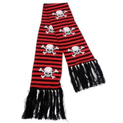 Echarpe 'Red Stripes Skull and Bones'