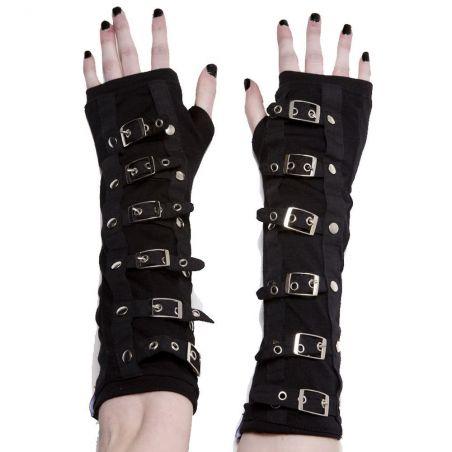 Black 'Dark Empire' Gothic Arm Warmers Gloves