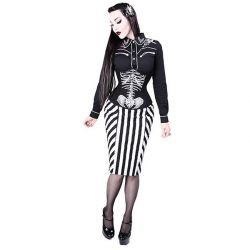 Black and White 'Pencil' Skirt