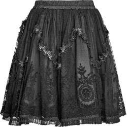 Black Dust Skirt