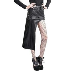 Black 'Osiris' Asymmetrical Skirt