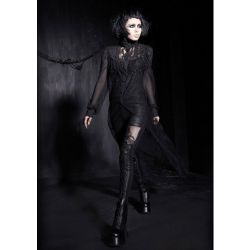 Black 'Mystic Shadows' Long Top