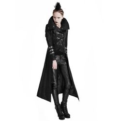 Manteau-Veste pour Femmes Noir à Capuche 'Scorpio'