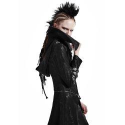 Black Hooded 'Scorpio' Women's Jacket-Coat