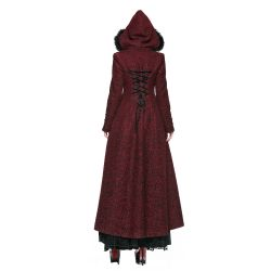 Red Hooded 'The Queen of Hearts' Luxirious Winter Coat