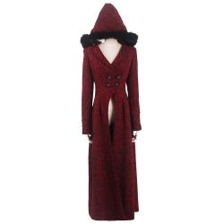 Red Hooded 'The Queen of Hearts' Luxurious Winter Coat
