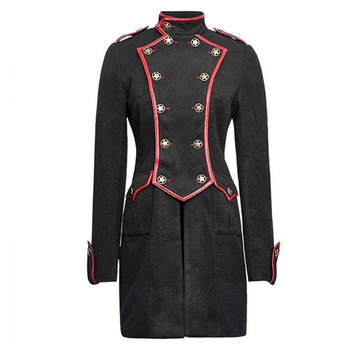 Black and Red 'Girl Soldier' Jacket