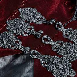 Veste Queue de Pie en Velours Rouge Sang 'Bloodborne'