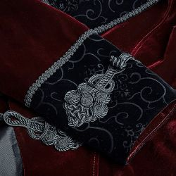 'Bloodborne' Gothic Style Dark Red Velvet Jacket