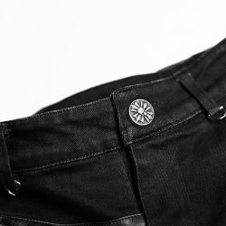 Black 'Catacomb' Half Kilt-Pants