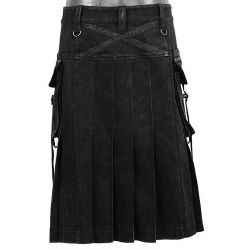 Black Denim 'Berserk' Kilt
