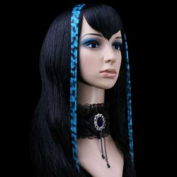 Blue Leopard Clip In Hair Extensions