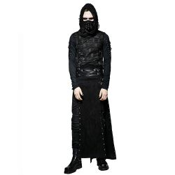 Black 'Katana' Male's Skirt