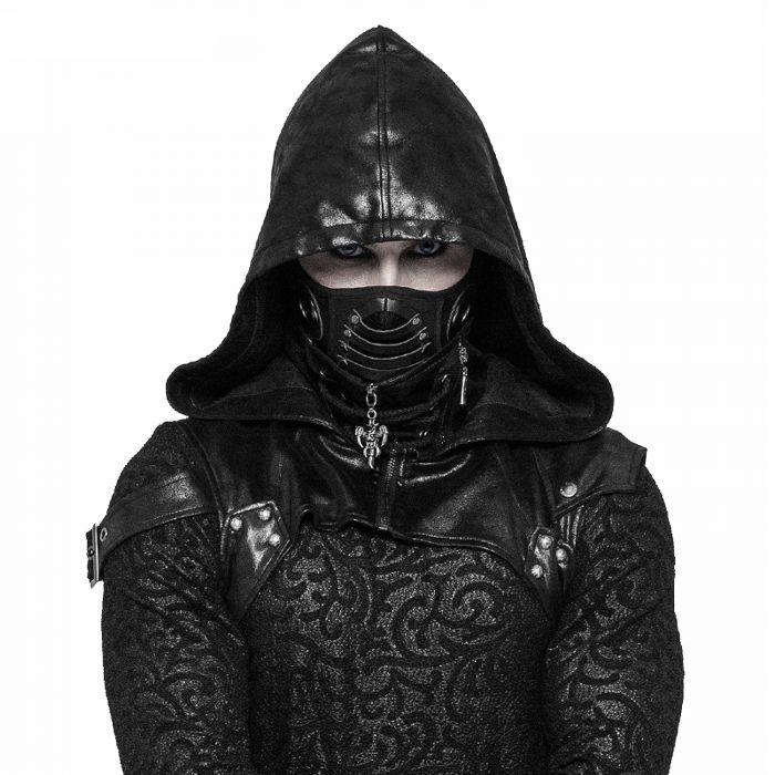 Black 'Reptilian' Face Mask
