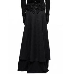 Black 'Phantom' Male's Long Skirt