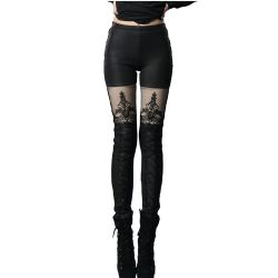 Leggings Polaire 'MacBeth' Noir