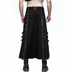Black 'Sanctum' Male's Long Skirt