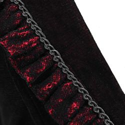 Dark Red Gothic Elegant 'Vampiress' Jacket-Blouse