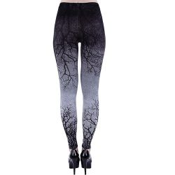 Grey and Black 'Gray Branches' Leggings