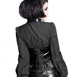 'The Perfect Order' Gothic Fetish Style Black Corsage-Shirt
