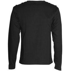 Black Long Sleeve Sweater 'Printed Gas Mask'