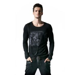 Black Long Sleeves Sweater 'Werewolf'