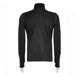 Black Long Sleeves Sweater 'Monster'